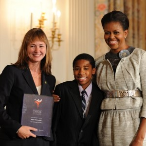 Michelle Obama, Lynsey Wood Jeffries and Scholar 2